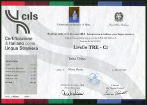 Certificate Italian CILS