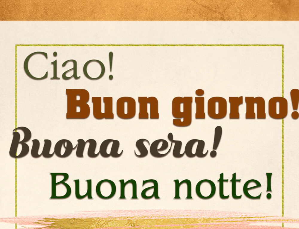 Какое приветствие выбрать, когда вы встречаете итальянца? 🤔