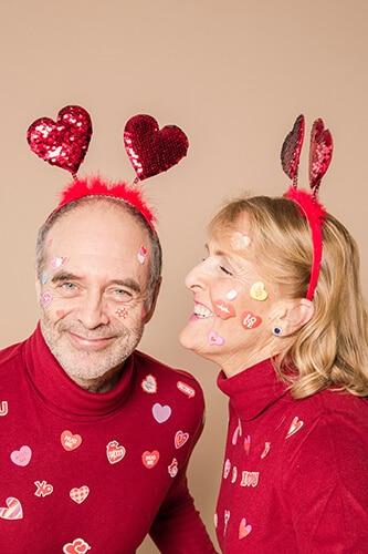 Пожилые итальянцы отмечают День святого Валентина