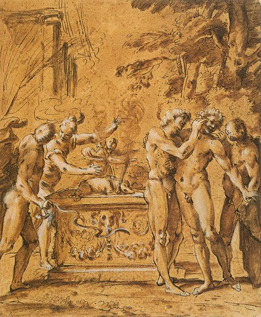 Annibale Carracci. Studio per Lupercalia (XVI)